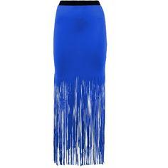 Skirt Wet Look Gypsy Maxi Tassel Fringe