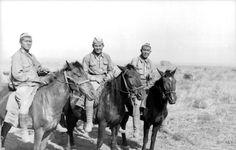 Sowjetunion, Süd.- Don/Stalingrad.- Freiwillige der Wehrmacht auf Pferden Date 21 June 1942