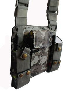 Lewong Universal Hands Free Chest Harness Bag Holster for Two Way Radio Rescue Essentials Camouflage >>> Check out the image by visiting the link. (This is an affiliate link)