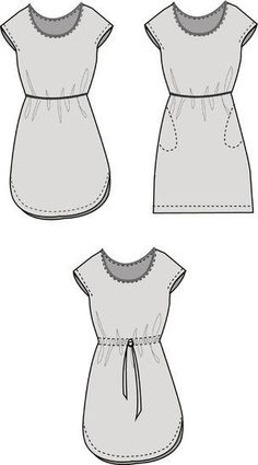 Blusenkleid 'Easy' ➊➁➂➃ Suitable for beginners Easy is a loose, straight-cut dress with overcut shou Cute Sewing Projects, Sewing Hacks, Straight Cut Dress, Baby Dress Patterns, Shirt Print Design, Baby Girl Romper, Blouse Dress, Crochet Scarves, Free Sewing