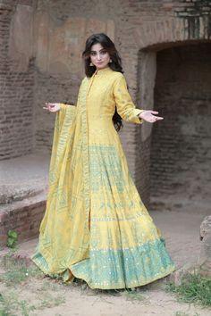 Anarkali, Victorian, Yellow, Shopping, Dresses, Fashion, Vestidos, Moda, Fashion Styles
