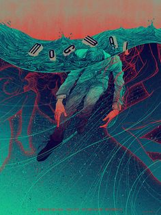 Mogwai poster by Kevin Tong A three color screen printed poster designed for the band's show in Los Angeles, and the limited edition c...