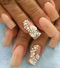 Nude nails #3d