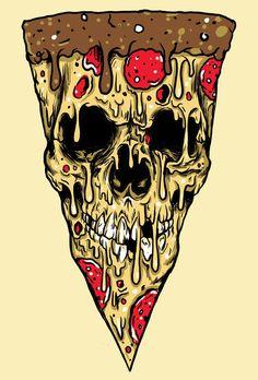 Skull pizza