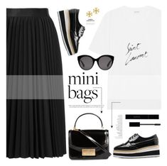"""mini bags"" by mylkbar ❤ liked on Polyvore featuring WithChic, Yves Saint Laurent, By Terry, Astraet, Tory Burch, Gucci and minibags"