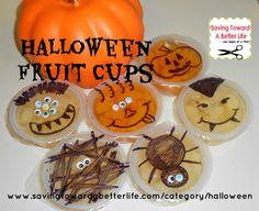 Lunchbox Fun: Halloween Fruit Cup Faces - Saving Toward A Better Life