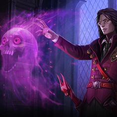What if, rather than fostering with Lyra, Samuel was sent to the Mage Academy for his instruction?  Read the lore & check out a 3D model, in-game or type  http://superevil.co/apprenticesamuel