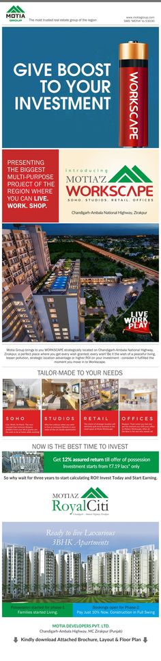 Investment start at 7.19 lacs on Delhi Highway, Zirakpur https://shar.es/1doaSW  via @visually #Visually #infographic