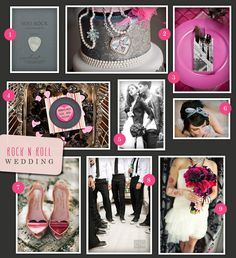 Rock And Roll Wedding Theme | Theme Thursday: Rock N' Roll Wedding | Oh, What Love Studios | The ...