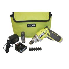 Ryobi TEK4 4-Volt Screwdriver-HP53LK - The Home Depot  Ryobi introduces the TEK4 4-Volt Lithium ion screwdriver. This tool features a 2-speed gear box and a 24-position clutch that adjusts the torque to match a variety of applications.