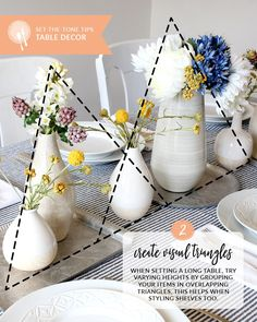 Set-the-Tone Tips: Table Decor and Creating Visual Triangles