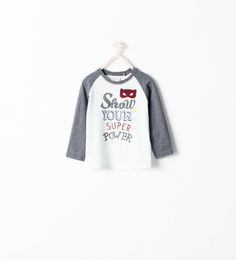 For baby julian ZARA - KIDS - TEXT AND MASK T-SHIRT