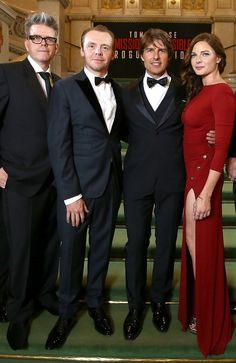 fltr: Director Christopher and actors/actress McQuarrie, Simon Pegg, Tom Cruise and Rebecca Ferguson - MISSION IMPOSSIBLE 5 ROGUE NATION - Paramount Pictures - kulturmaterial