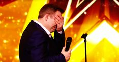 """When """"Ordinary"""" Soccer Dad Sounds Amazingly Like Elvis, The Judges Are Forced To Hit The Golden Buzzer Got Talent Show, Got Talent Videos, Angelina Jordan, Louis Walsh, Elvis Presley Songs, Spots On Face, Shocking News, Buzzer"""