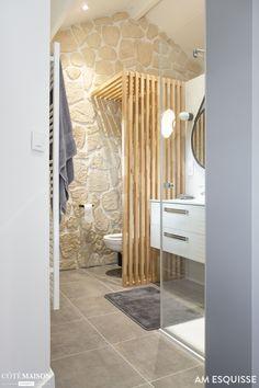 Chambre parentale sur mezzanine, AM esquisse - Côté Maison Bad Inspiration, Bathroom Inspiration, Mezzanine Bedroom, House Siding, Bathroom Interior Design, Amazing Bathrooms, New Homes, House Design, Home Decor