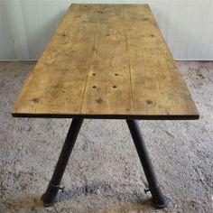 Hight Extending Factory Table - Vintage Industrial Furniture - Original House #old #vintage #factorytable