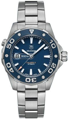 WAJ2112.BA0870 NEW TAG HEUER AQUARACER CAL.5 500M MENS WATCH IN STOCK - FREE Overnight Shipping | Lowest Price Guaranteed - NO SALES TAX (Outside California)- WITH MANUFACTURER SERIAL NUMBERS - Blue Dial