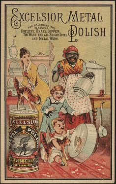 Excelsior Metal Polish vintage advertising card (c. 1870~1900)