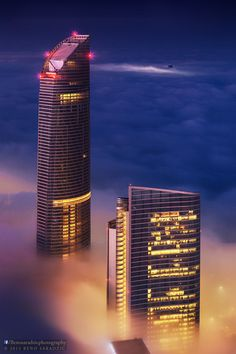 Abu Dhabi above the clouds, UAE