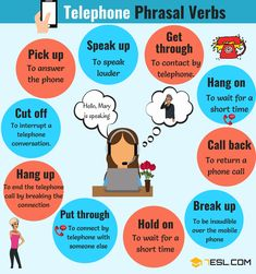 Useful Telephone Phrasal Verbs in English