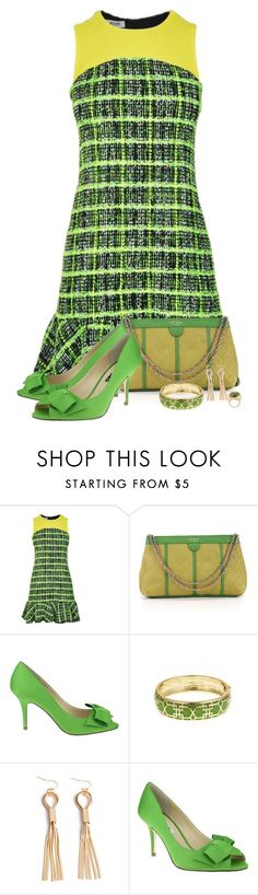 """""""Green"""" by montse-gallardo ❤ liked on Polyvore featuring Moschino Cheap & Chic, Kate Spade, Nina, Fornash and Rosantica"""