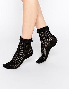 ASOS+Crochet+Lace+Frill+Ankle+Socks