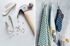 Turn old utensils into wall hooks with this tutorial.