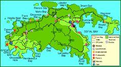 Map of St. John, USVI