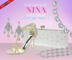 The Five Days of Nina Bridal Accessories Giveaway: Enter to win your choice of bridal finery!