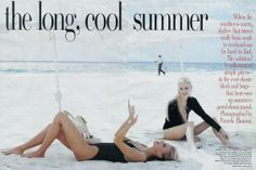 Niki Taylor and Kirsty Hume, Vogue US july 1995 By Pamela Hanson