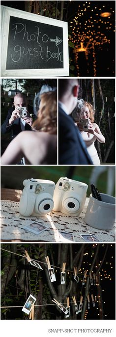 Perfect alternative to a Photobooth - from my friends' gorgeous wedding in October.
