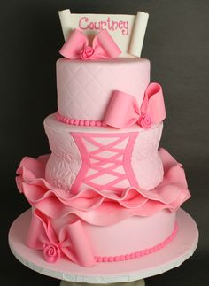Ballerina Bat Mitzvah Cake | Lil' Miss Cakes