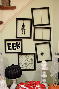 Halloween wall art, but would be cute to interchange for other seasons/holidays