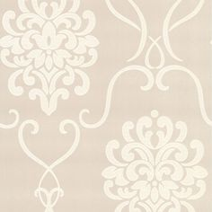 Suzette Damask Wallpaper in Taupe design by Brewster Home Fashions ($31) ❤ liked on Polyvore featuring home, home decor, wallpaper, backgrounds, phrase, quotes, saying, text, texture and pattern wallpaper