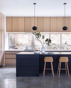 Interior Design Minimalist, Modern Kitchen Design, Interior Design Kitchen, Modern Kitchen Interiors, Simple Interior, Kitchen Designs, Kitchen Living, New Kitchen, Kitchen Decor
