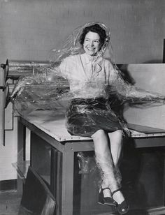 """Acetate Foil for Lamination"" photo by Jackie Martin, International News Photos, 1946. Nationa Archives 64-NA-464"