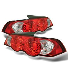 Acura RSX Red Clear LED Taillights fit 2002, 2003, 2004