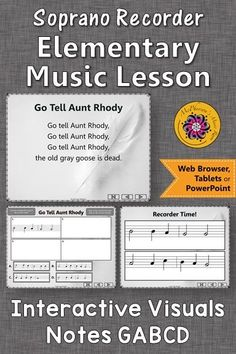 Looking for a recorder song and an elementary music lesson! This is perfect for your music lesson plans working with with soprano recorders and notes GABCD! Your students will LOVE these interactive visuals! Music Classroom, Music Teachers, Elementary Music Lessons, Music Lesson Plans, Teaching Music, Music Education, Students, Notes, Music Mix