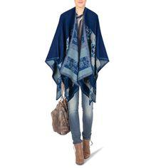 Poncho Blau gemustert 18,99 Euro  Hol dir den Herbsttrend in Royal Blau im romantischen Blumendesign. Ein weich fallendender Poncho, der viele andere Kleidungsstücke trendig aufpeppt und genug Wärme für die Übergangszeit spendet. Kombinier ihn mit Jeans und Bluse und dein neues wohlfühl-Outfit ist komplett!