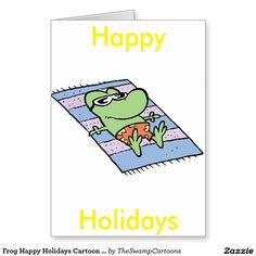 50% off all card products. Code Word: EARLYSPECIAL #giftcards #cartooncards #zazzle http://www.zazzle.com.au/frog_happy_holidays_cartoon_card-137313075850796400?rf=238100710189761270