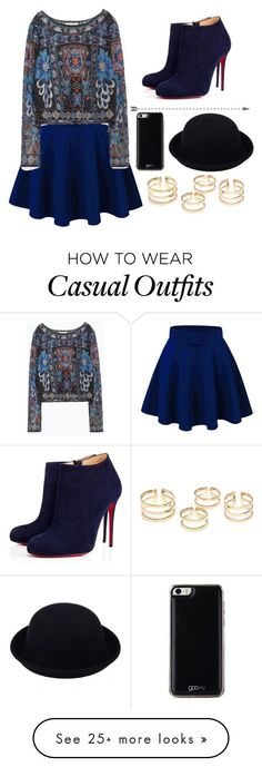 """""""Casual"""" by chap15906248 on Polyvore featuring Zara, Christian Louboutin and Gooey"""
