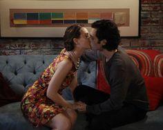 Gossip Girl - Blair and Dan sneak in a kiss before their romance fizzles.