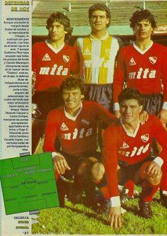 Hugo Villaverde, Luis Islas, Osvaldo Ingrao, Nestor Clausen y Carlos Enrique - Club Atlético Independiente de Avellaneda