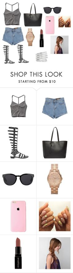 """""""THURSDAY school day"""" by thats0jai on Polyvore featuring Abercrombie & Fitch, Chicnova Fashion, Stuart Weitzman, Yves Saint Laurent, Barton Perreira, Marc by Marc Jacobs, Smashbox, American Eagle Outfitters, Gucci and women's clothing"""