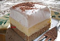 Foamy the real cake! Hungarian Desserts, Hungarian Cake, Hungarian Recipes, No Bake Desserts, Easy Desserts, Dessert Recipes, Sweet Cookies, Sweet Treats, Torte Cake
