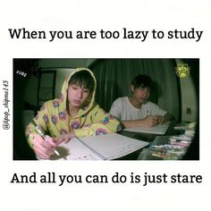 I'd rather stare at the wall than study