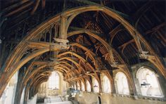 The timber roof inside Westminster Hall. Wood Architecture, Historical Architecture, Beautiful Architecture, Architecture Details, Timber Roof, Timber Buildings, Roof Trusses, Interesting Buildings, Amazing Buildings
