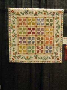 1930's Repro Bears Paw and Vine Quilt
