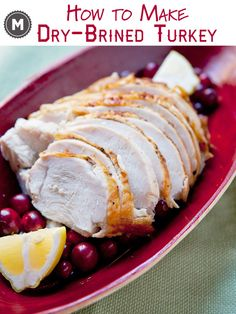 A fantastic way to prepare turkey (or any poultry) is to dry brine with a salt, sugar, and spices rub. Step-by-step directions on how to dry brine a turkey!