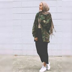 Military army hijab style-How to be elegant hijabista – Just Trendy Girls